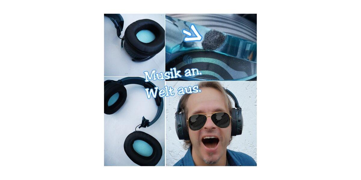 Musik an. Welt aus. -